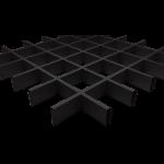 Подвесной потолок Грильято Черный 100x100x40 мм