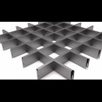 Подвесной потолок Грильято Серый металлик 100x100x40 мм