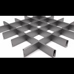 Подвесной потолок Грильято Серый металлик 120x120x40 мм