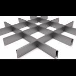 Подвесной потолок Грильято Серый металлик 150x150x40 мм