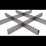Подвесной потолок Грильято Серый металлик 200x200x40 мм