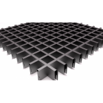 Подвесной потолок Грильято Черный 50x50x40 мм