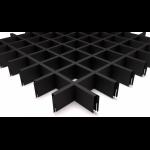 Подвесной потолок Грильято Черный 75x75x40 мм