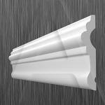 Потолочный плинтус КИНДЕКОР U-80(19х80 мм)