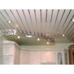 реечный потолок москва,Декоративная вставка Албес 15мм (3м). Металлик