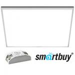 Панель светодиодная Армстронг Smartbuy ультратонкая 595х595х10мм 40Вт Опал 4500К Белый свет с Эпра