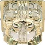 Светильник потолочный, JCD9 35W G9 с прозрачным стеклом, золото, JD61