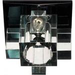Светильник потолочный, JCD9 G9 с черным стеклом, с лампой, 1525