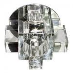 Светильник потолочный, JCD G9 с прозрачным стеклом, хром, с лампой, C1037A